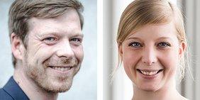Eric Schley (Bezirksjugendsekretär DGB NRW), Julia Löhr (GEW NRW)