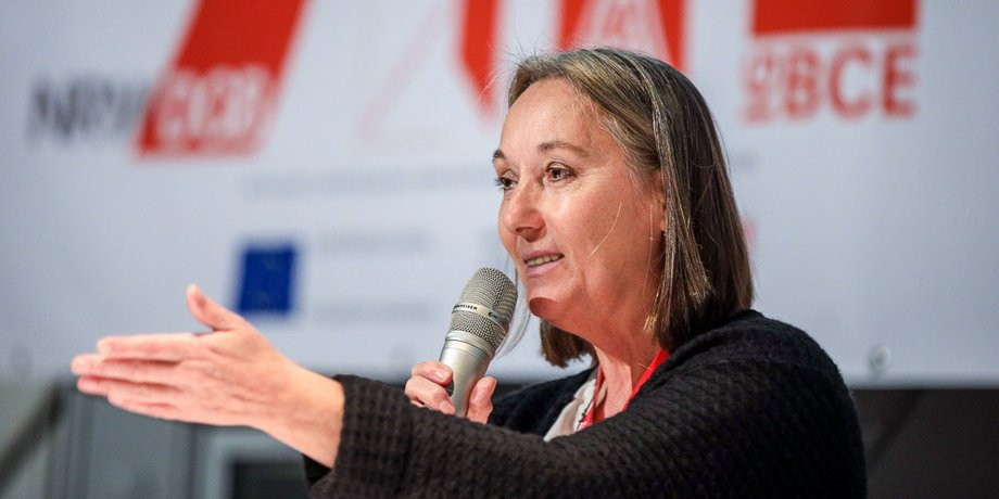 Anja Weber, Landesvorsitzende des DGB in NRW