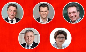 Groschek, Laumann, Vogel, Haßelmann und Ernst diskutieren mit Betriebsräten zur Bundestagswahl