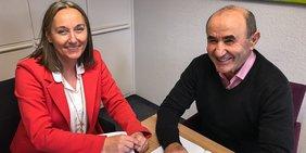 Anja Weber mit Tayfun Keltek: Gewerkschaften und Integrationsrat gegen Rassismus Teaser