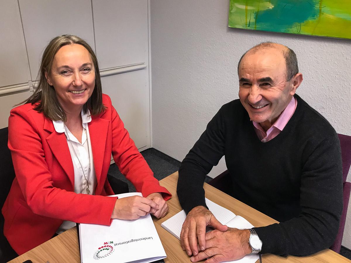Anja Weber (Vorsitzende DGB NRW) und Tayfun Keltek (Vorsitzender Integrationsrat NRW) vereinbaren weiterhin gemeinsamen Einsatz gegen Rassismus