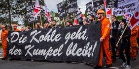 Die Kohle geht, der Kumpel bleibt – Bergleute am 1. Mai 2018 in Bottrop