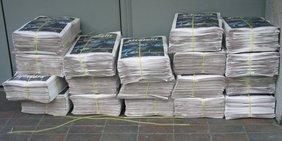 Zeitungen eines Zeitungsausträgers