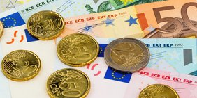 Euromünzen und Eurogeldscheine