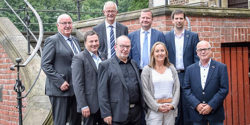 Anja Weber mit Vizepräsidenten der Handwerkskammern NRW