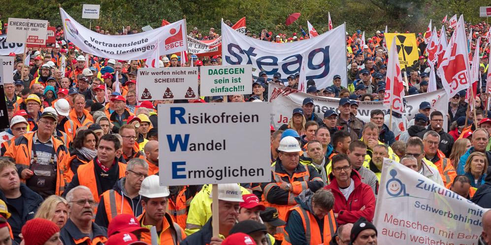 Demonstration im Rheinischen Revier sendet klare Botschaft an Kohlekommission