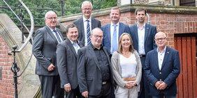 Vizepräsidenten der Handwerkskammern NRW mit DGB NRW-Vorsitzenden Anja Weber auf Schloss Raesfeld