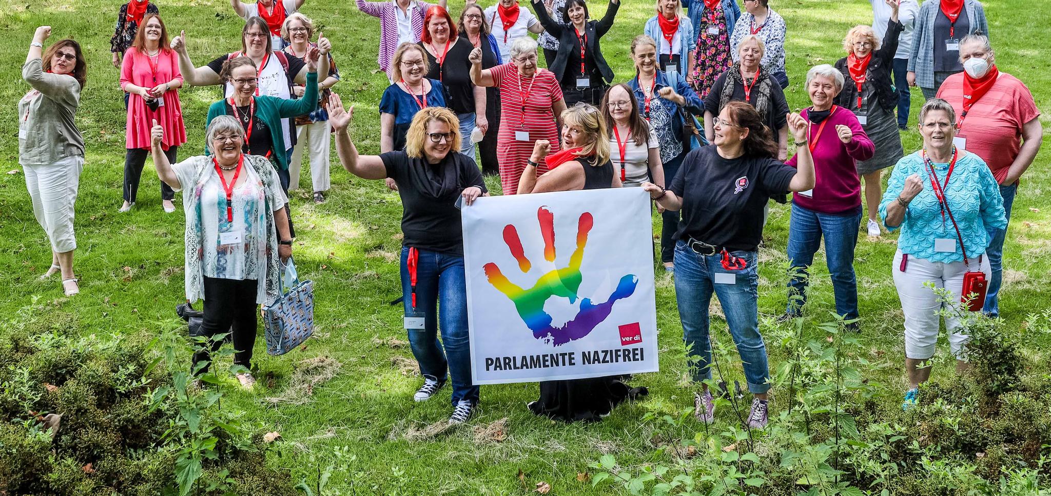 DGB Frauen bei der Bezirksfrauenkonferenz 2021