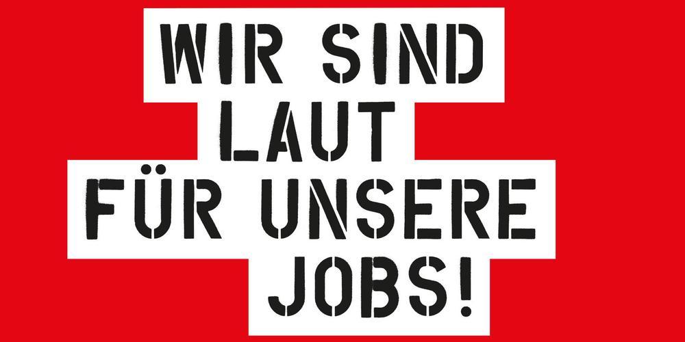 Demonstration im Rheinischen Revier