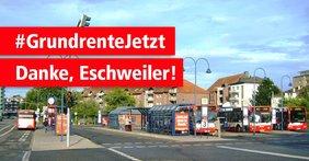Unterschriftenaktion für faire Rente: Eschweiler besonders aktiv