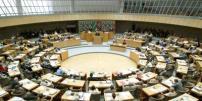 Blick in das Plenum des Landtags NRW