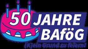 Logo 50 Jahre BaföG