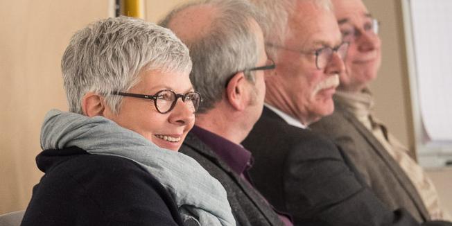 Sabine Graf, stellv. Vorsitzende DGB NRW, beim Workshop zum Thema sozialer Arbeitsmarkt