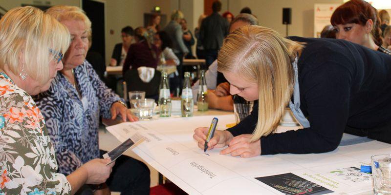 Gruppenarbeit beim Tag für Betriebsrätinnen, Personalrätinnen und Interessenvertreterinnen in Recklinghausen