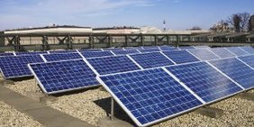 Solaranlage in Lieberose (Brandenburg)