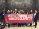 Düsseldorfer Gewerkschafter und Gewerkschafterinnen im Rathaus