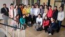 Gruppenbild der Delegation der All-China Women's Federation mit Bezirksfrauensekretärin Stefanie Baranski-Müller