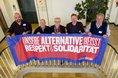 Ehrenamtliche aus der DGB-Region Köln-Bonn mit Gewerkschaftssekretärin Karin Bernhardt
