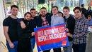 Ministerpräsidentin Hannelore Kraft unterstützt Gewerkschaftsjugend bei Aktion mit Rheinbahn-Azubis