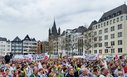 Heumarkt in Köln: Streik-Kundgebung der Gewerkschaften im Öffentlichen Dienst