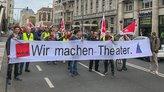 Beschäftigte des Theaters nehmen an ver.di-Demo in Köln teil
