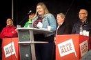 Die Duisburger Stadtjugendausschuss-Vorsitzende Michelle Mauritz bei ihrer Mairede.