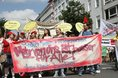 Pflege-Beschäftigte demonstrieren für mehr Personal in der Pflege