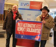 Funktionäre der EVG NRW, im Rahmen des Neujahrsempfangs am 13.01.2017