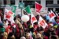 Gewerkschaften demonstrieren für bessere Gehälter und Besoldungen im öffentlichen Dienst der Länder