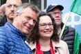 Die Vorsitzende der SPD, Andrea Nahles, auf der Mai-Kundgebung in Recklinghausen.