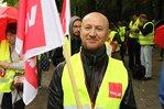Demonstranten fordern allgemeinverbindliche Tarifverträge im Handel