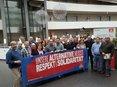 Mitglieder des Migrationsausschusses der IG Metall NRW setzen ein Zeichen gegen rechte Hetze. Im Laufe des nächsten Jahres soll es im Vorfeld der Landtags- und Bundestagswahl zu mehreren Veranstaltungen gegen Rechtspopulisten und ihre Stimmungsmache kommen.