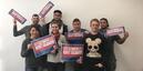 Junge IG BCE-Kolleginnen und Kollegen bei Currenta für Respekt und Solidarität