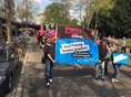 """Die Gewerkschaftsjugend fordert bei der Kölner Maidemo: """"Ausbildung besser machen!""""."""