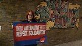 Auf dem Bundesweiten Konzepttransfer der Berufsschularbeit in Hattingen setzen junge Leute ein Zeichen für Respekt uns Solidarität
