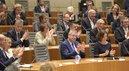 1. Reihe v.l.: Landtagspräsident André Kupper, DGB NRW-Vorsitzende Anja Weber und Unternehmerpräsident Arndt G. Kirchhoff