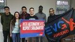 """Die EVG Landesjugendring NRW bei einem Seminar zum Thema """"Welcome Refugees""""."""