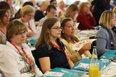Gewerkschafterinnen auf Konferenz