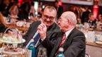 Vorsitzender des DGB-Bezirks Rheinland-Pfalz/Saarland Dietmar Muscheid (l.) mit dem ehemaligen DGB NRW-Vorsitzenden Walter Haas